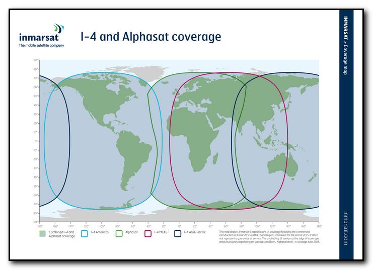 Inmarsat Satellitentelefon Netzabdeckung