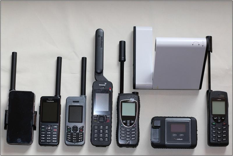 Vergleichsbild Satellitentelefone